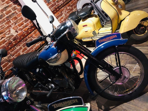 triumph t100  año 1948 moto de coleccion pro seven!!