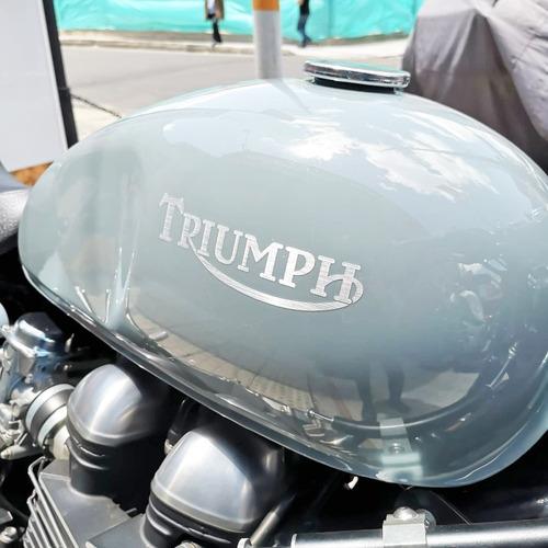 triumph thruxton azul crema 2013