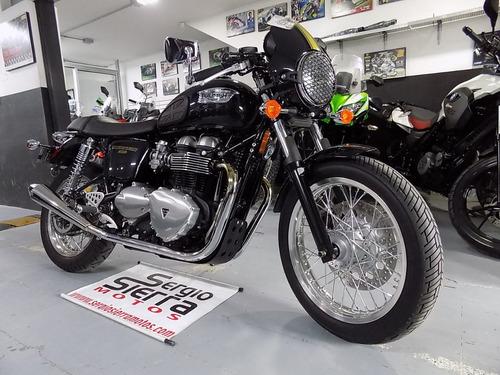 triumph thruxton900 negra 2016