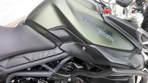 triumph tiger 800 xc modelo 2014 verde excelente, tomo auto