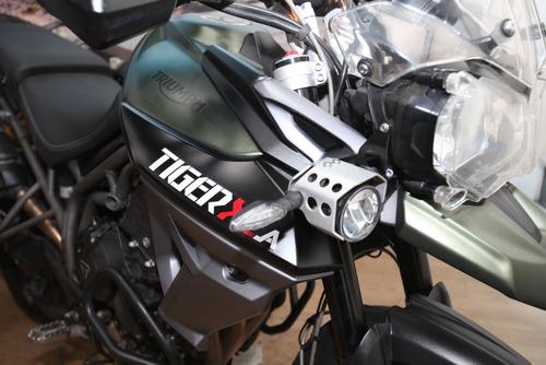 triumph tiger 800 xca con maletas laterales año 2017