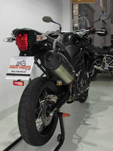 triumph tiger 800xc - 2015 preta - baixo km