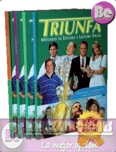 triunfa, metodos de estudio y lectura veloz 4vol+2dvd+cd