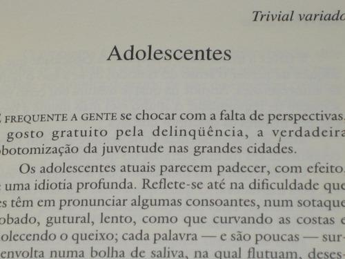 trivial variado - marcelo coelho - 1997 - ed. revan