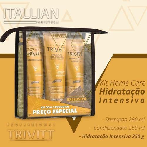 trivitt kit home care hidratação intensiva-3 produtos