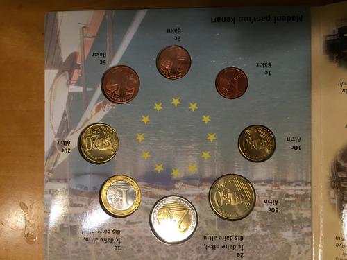 trk-s02 set 8 monedas turquía 2004 pattern prueba ayff