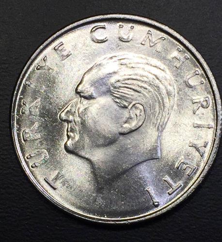 trk004 moneda turquía 25 lira 1986 unc-bu ayff