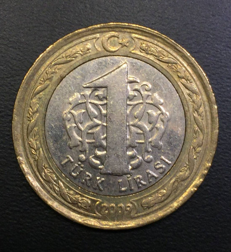 trk017 moneda turquía 1 lira 2009 xf ayff