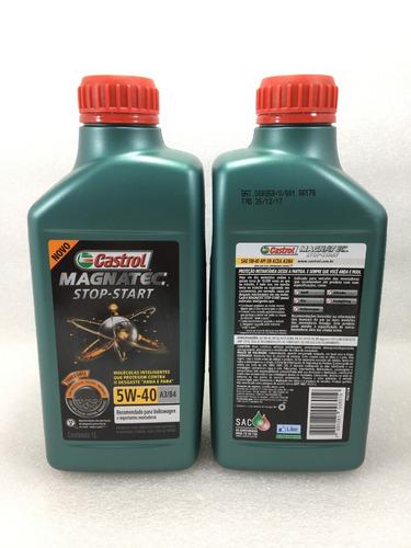 troca oleo jetta novo fusca 2.0 tsi 210 211cv castrol 5w40 502 00 stop start 100% sintetico + filtro original vw