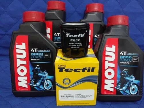 troca óleo motul 20w50 + filtro honda shadow vt 600 750 800