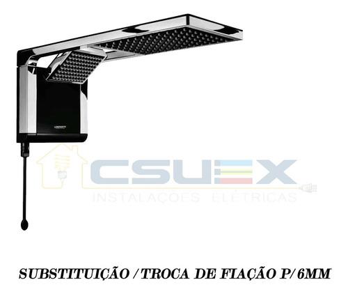 troca / substituição de fiação de chuveiro 6800w+ / 8800w