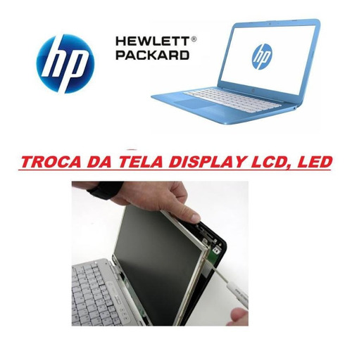 troca tela display lcd notebook ultrabook hp a partir de