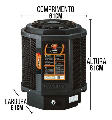 trocador de calor piscinas aquecedor econômico nautilus aa15