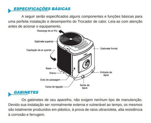 trocador de calor sodramar sd 160 titanio + comando digital