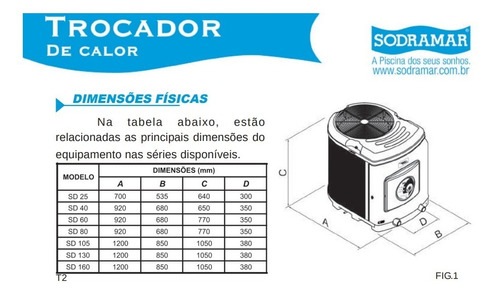 trocador de calor sodramar sd 180 titanio + comando digital