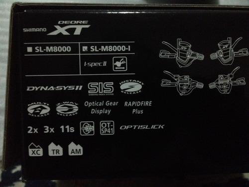 trocador shimano xt sl m8000i - ispecii 11 velocidades