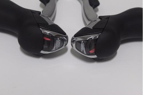 trocador sti shimano tiagra 4600 - 2x10 - prata - novo