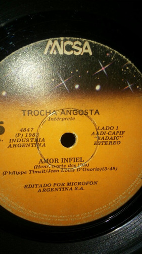trocha angosta simple vinilo 7 a 8 pts