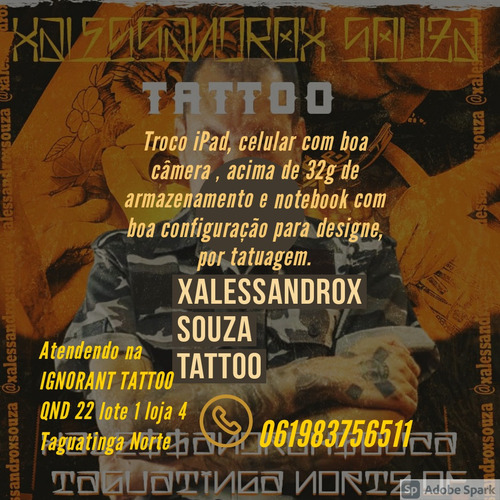 troco tattoo por ipad, notebook e celular top