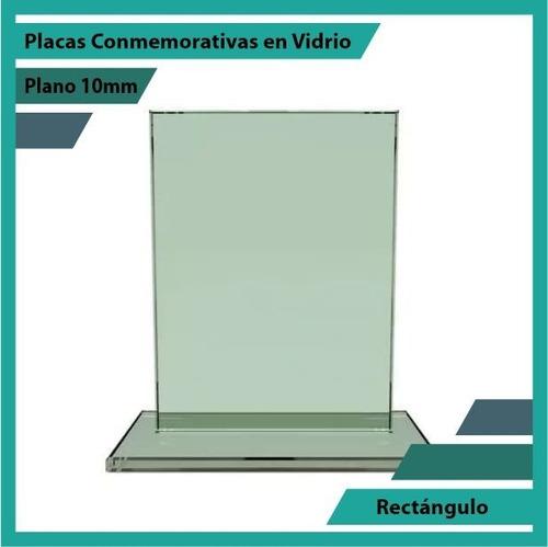 trofeo en cristal referencia rectangulo pulido plano 10mm