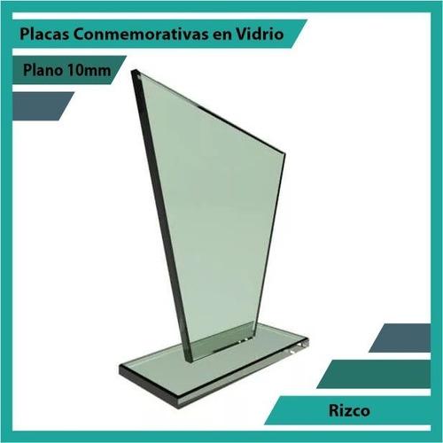 trofeo en cristal referencia rizco pulido plano 10mm