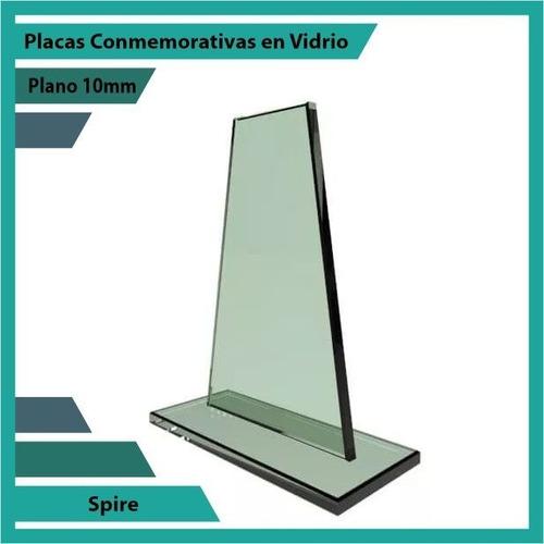 trofeo en cristal referencia spire pulido plano 10mm