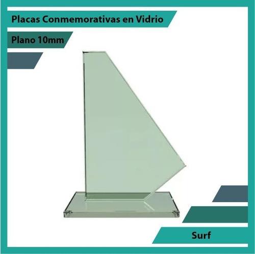 trofeo en cristal referencia surf pulido plano 10mm