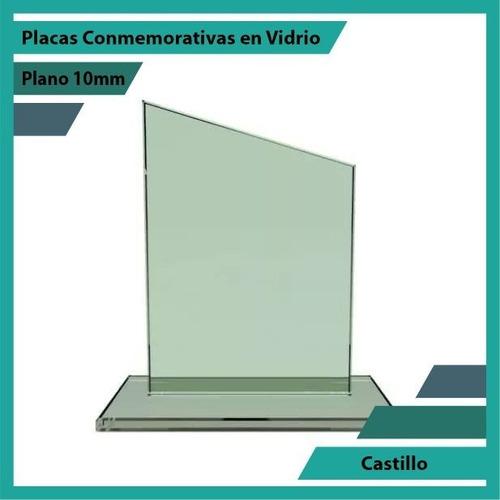 trofeo en vidrio referencia castillo pulido plano 10mm