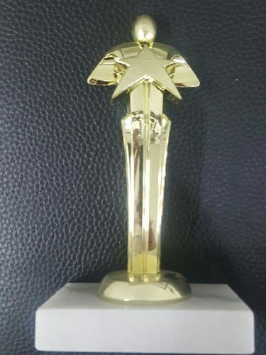 trofeo estatuilla de estrella con  base de marmol