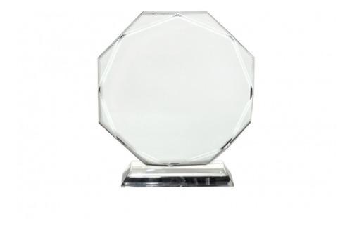 trofeo placa cristal de recococimiento personalizada