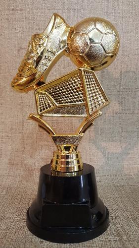 trofeo plástico fútbol arco pelota botin base alta  souvenir