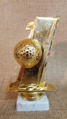 trofeo plástico golf hoyo uno 13cm souvenir