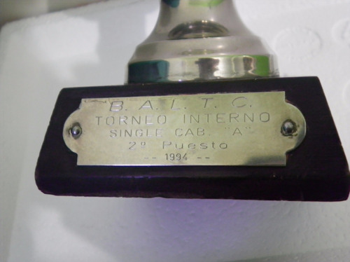 trofeo premio copa tenis 1994 b a l t c imperdible regalo