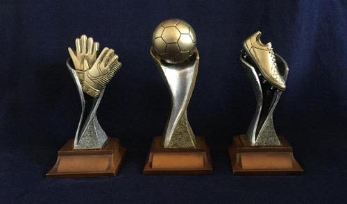 trofeos de fútbol en resina c/grabado precio x unidad