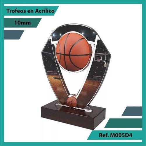 trofeos en acrilico baloncesto ref. m005d4