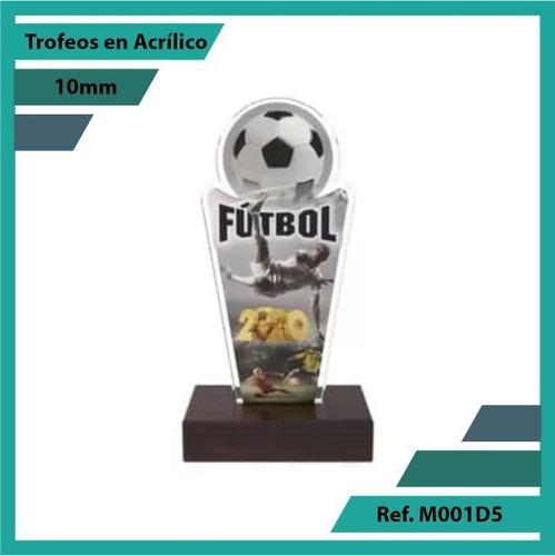 trofeos en acrilico de futbol ref. m001d5
