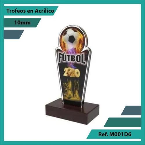 trofeos en acrilico de futbol ref. m001d6