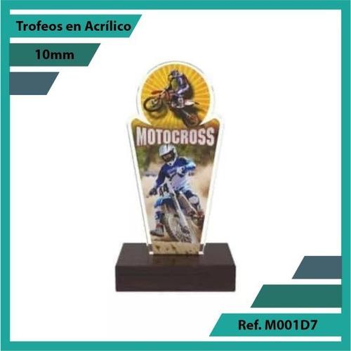 trofeos en acrilico de motocross ref. m001d7
