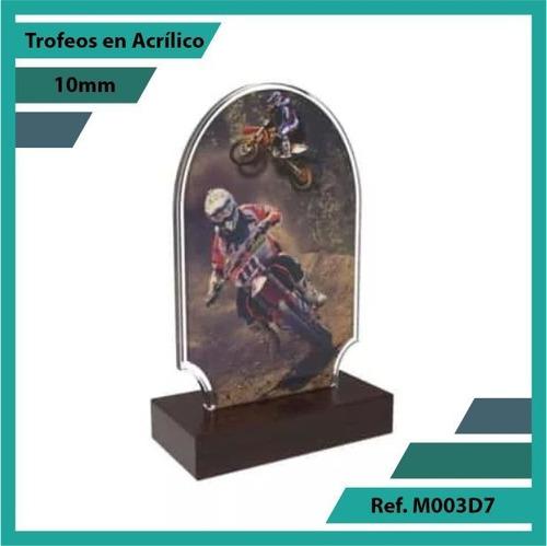 trofeos en acrilico de motocross ref. m003d7