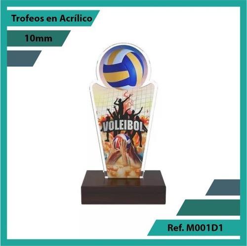 trofeos en acrilico de voleibol ref. m001d1