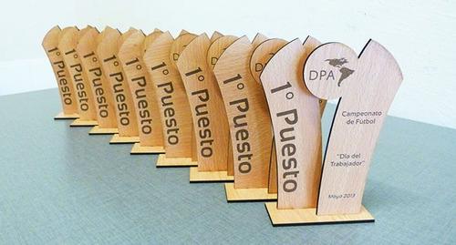 trofeos en mdf grabado laser medallas placas 20cm