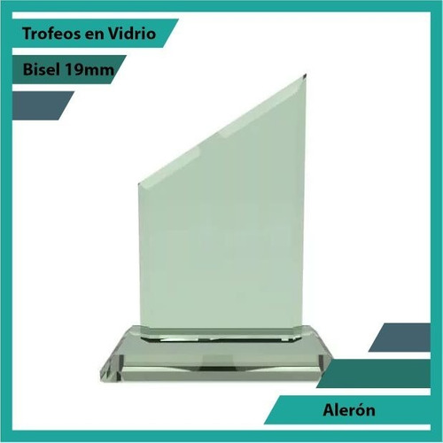 trofeos en vidrio forma aleron