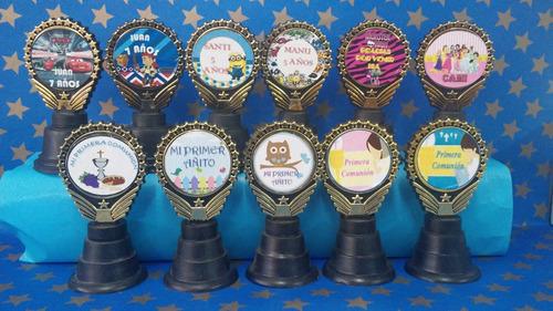 trofeos medallas souvenirs personalizados,cumples,comunion