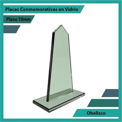 trofeos placas de reconocimiento obelisco pulido plano 10mm