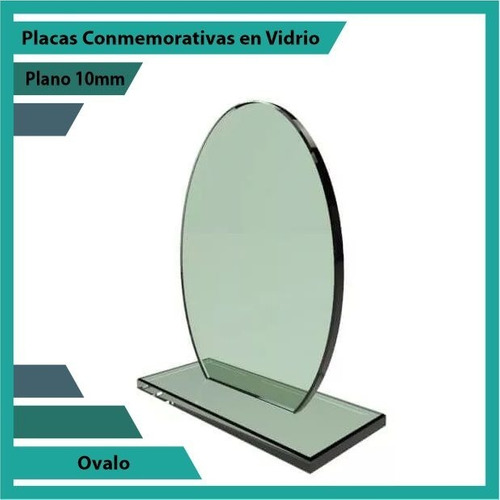 trofeos placas de reconocimiento ovalo pulido plano 10mm