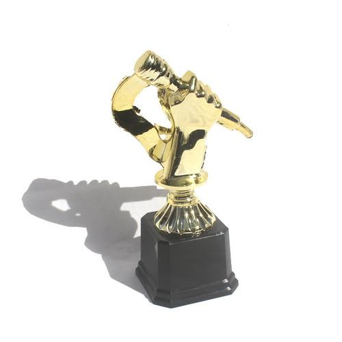 troféu de música ou karaokê - 19 cm