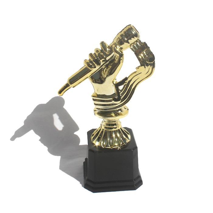 Troféu De Música Ou Karaokê - 19 Cm - R  40 9544a408bcd80