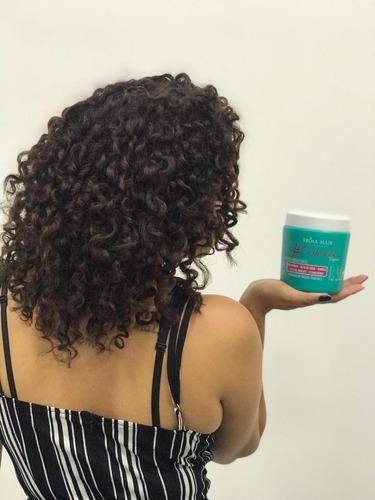 tróia hair kit cacheada 4 passos 500ml tratamento p/ cachos