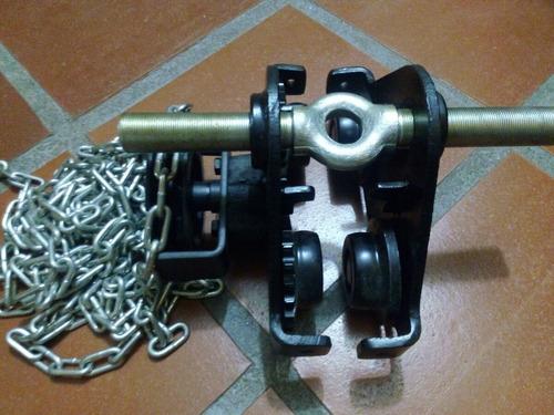 trolley para señorita de 0.5 ton con rodete y cadena (nuevo)
