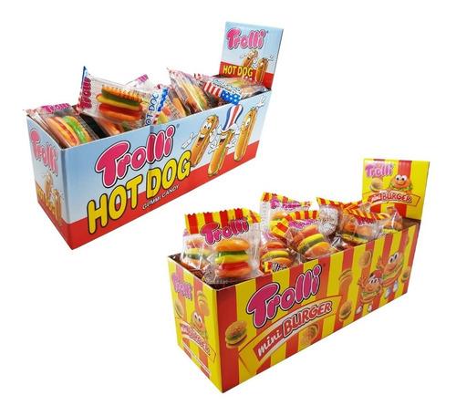 trolli minihamburguesa y mini hot dog hoy en la golosineria